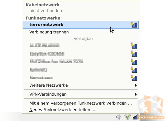 WLAN-Manager unter Linux (xfce4)