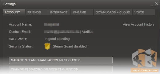 Steam Guard: Inaktiv