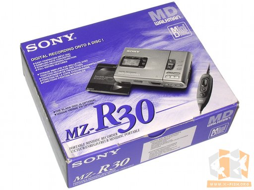 Verpackung des Sony MZ-R30 Minidisc-Player beziehungsweise -recoder