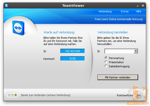 TeamViewer: Startfenster