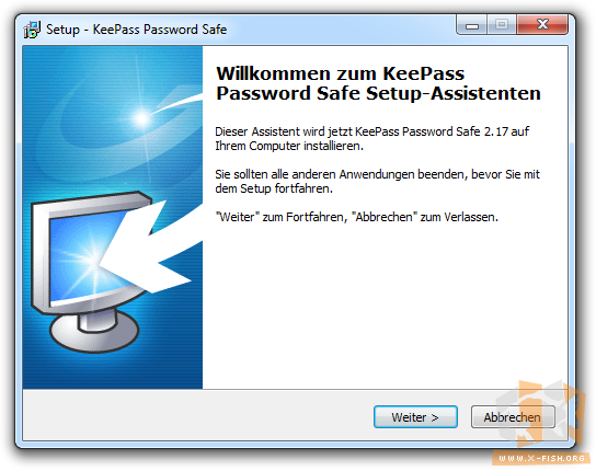 KeePass 2: Installationsassistent
