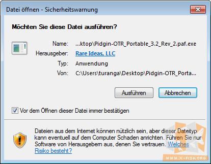 X_FISH's Homepage: Pidgin Portable und OTR – verschlüsselt