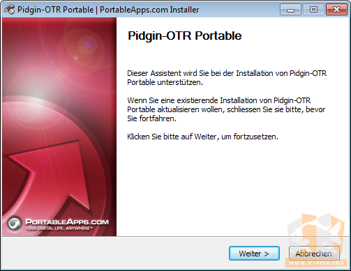 Installation Pidgin-OTR: Assistent in deutscher Sprache